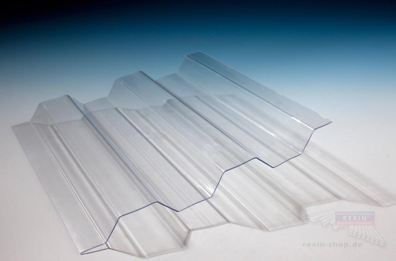 Rexin Lichtplatten 76/18 Trapez, transparent