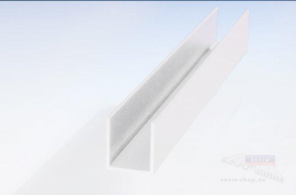 REXOboard Alu-U-Endkappen-Profil, 150mm, weiß