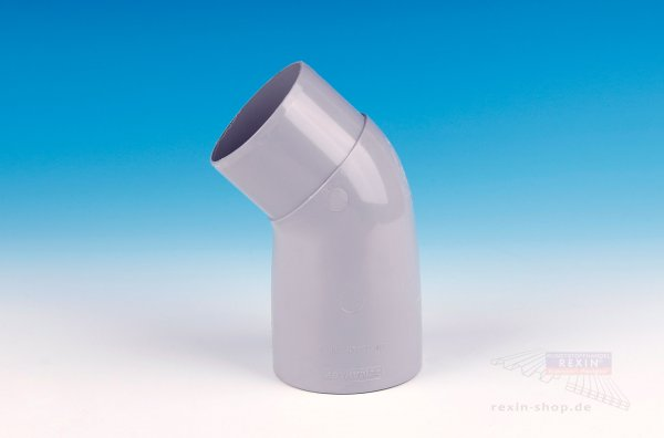 Kunststoff-Rohrbogen 45°, grau