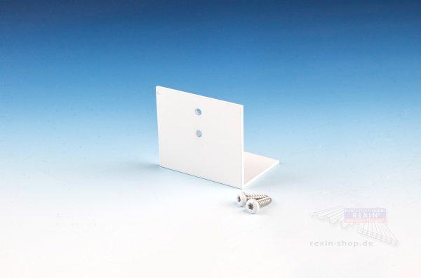 REXOpremium Alu-Befestigungswinkel für 16mm Platten, weiß