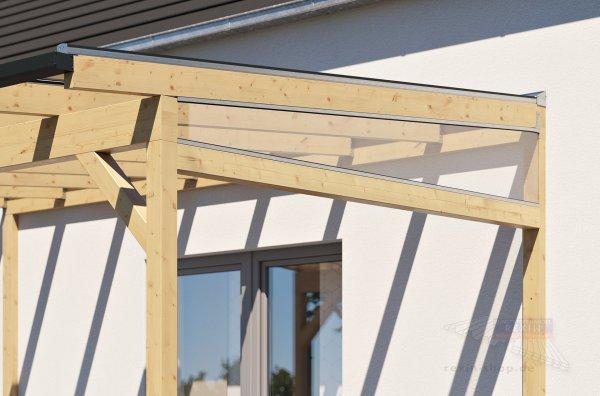 REXOcomplete Seitenkeil-Bausatz - für 2,5m Dachtiefe, inkl. 5mm Plexiglas