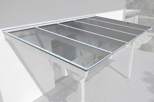 REXOtop XXL Dachhaut 10m x 4,50m, Komplettangebot mit 16mm Stegplatten