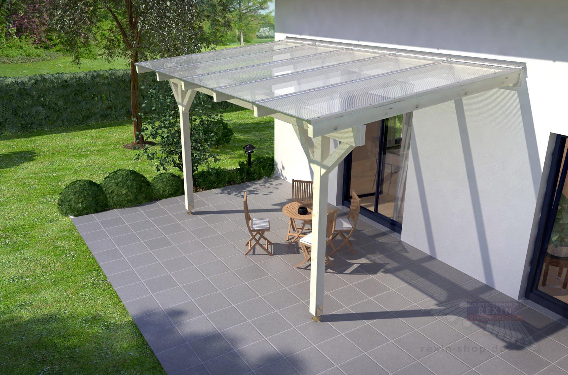 rexocomplete holz terrassenüberdachung 5m x 4m ▷ rexin-shop, Moderne