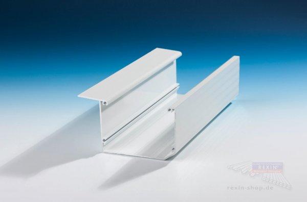REXOdrop Alu-Regenrinne Kastenform, weiß