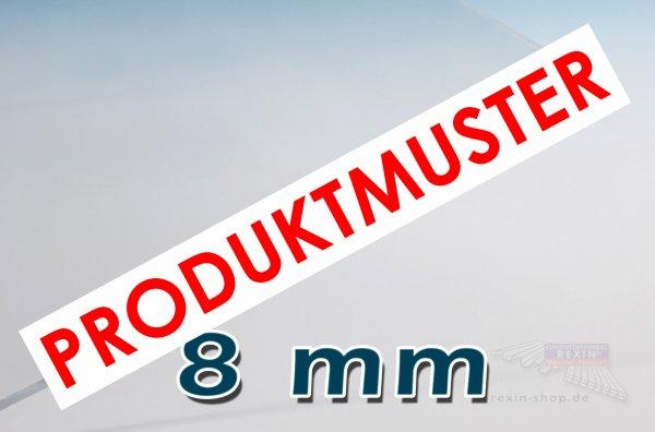 Makrolon® UV 8mm Massivplatte, klar MUSTER