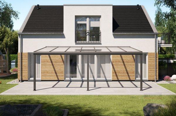 Alu-Terrassendach REXOpremium 7x4m