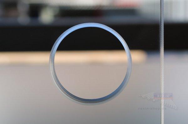 Lochbohrung in ESG für Glasschiebewände, 51mm Durchmesser