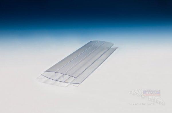 H-Profil aus Polycarbonat, transparent, für 16mm Platten
