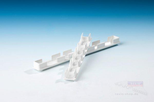 Baukulit Endkappen, für 200er PVC-Balkonbretter, weiß