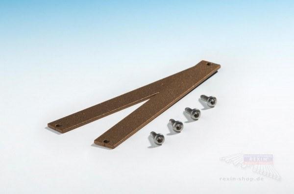 REXOboard Alu-Endkappen-Set, 200mm, braun