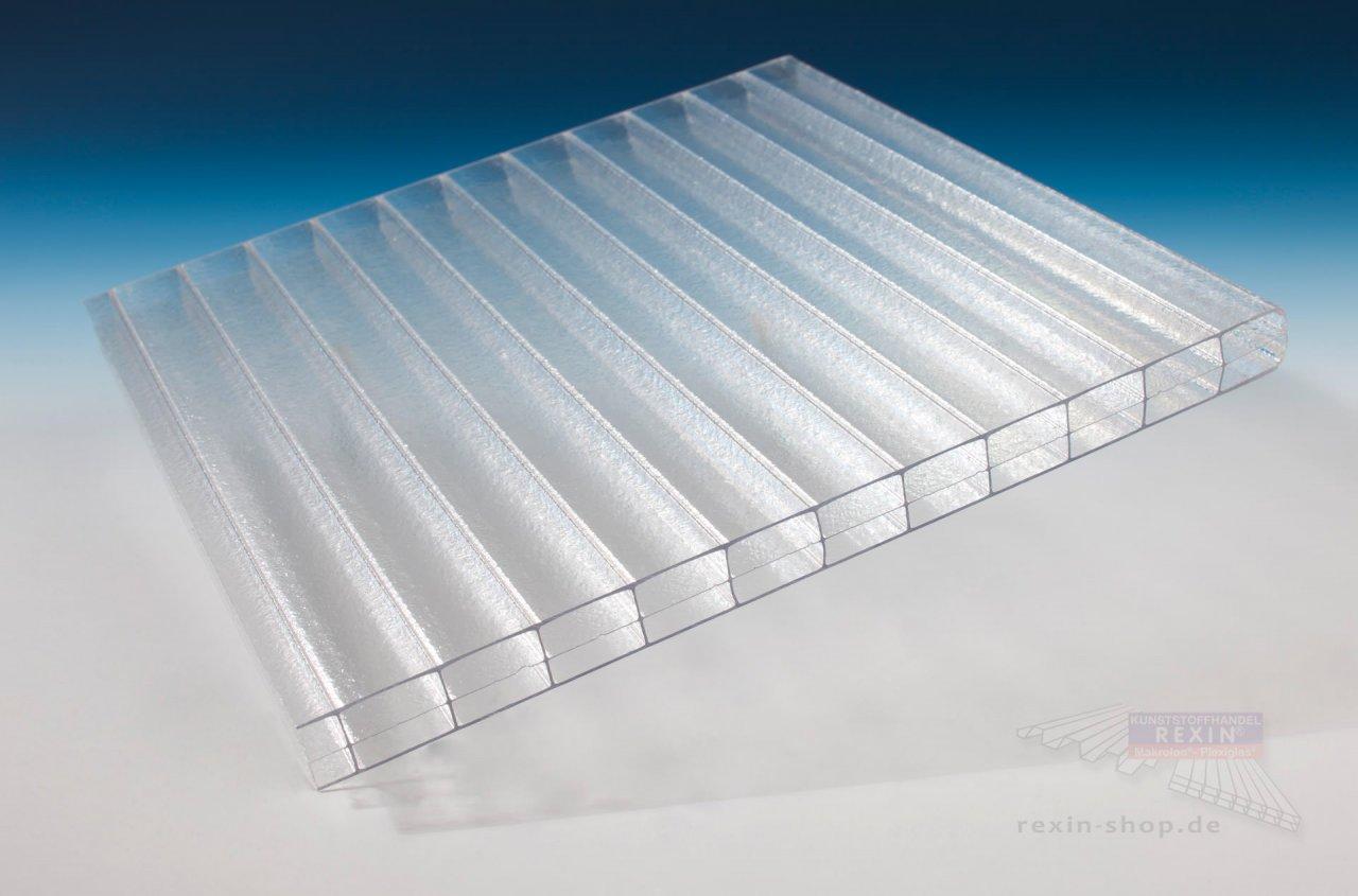 Rexin REXOclear 3-fach-Stegplatte, 16mm, eiskristall (transparent)