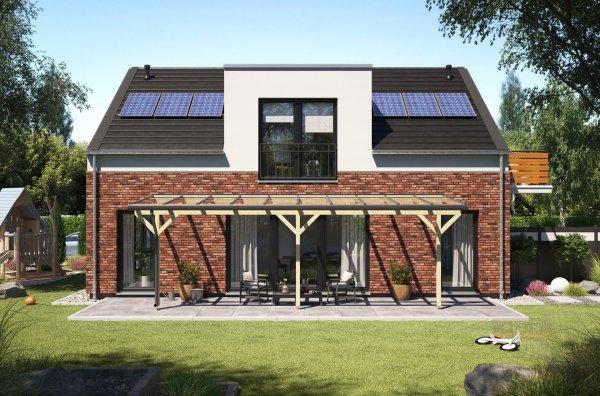 REXOmaster Holz Terrassenüberdachung XXL VSG 8m x 2,5m