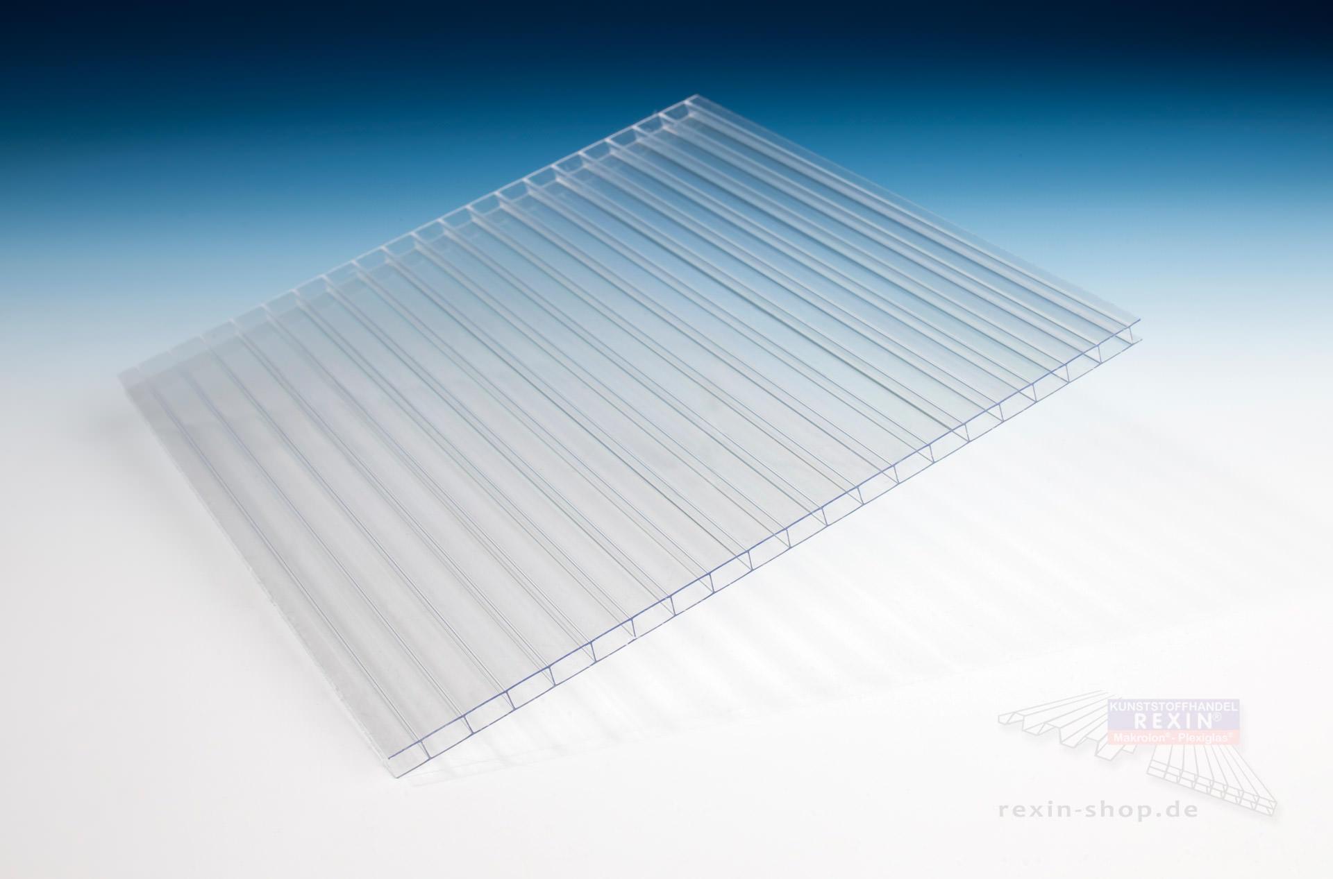 rexoclear 2 fach stegplatte 6mm transparent. Black Bedroom Furniture Sets. Home Design Ideas