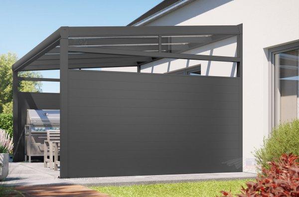 REXOcover Terrassen-Seitenwand 1,80m Höhe