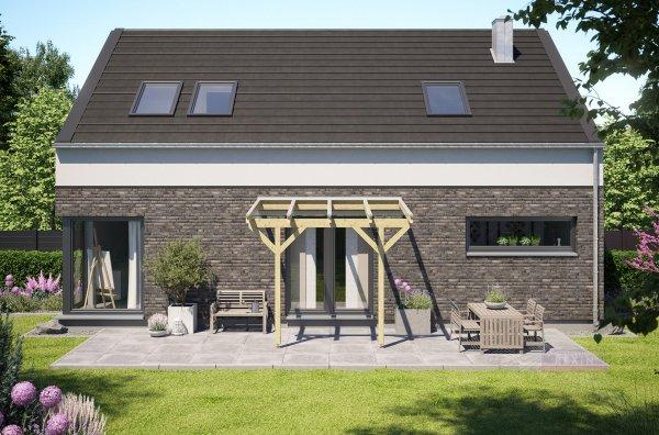 REXOcomplete Holz Terrassenüberdachung VSG 3m x 2,5m