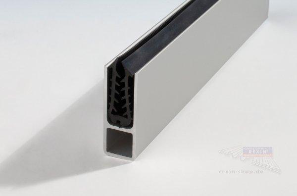 Alu-Rahmen-Profil, für 4-5mm, silber mit Dichtung