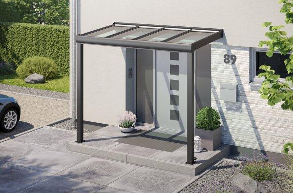 Alu-Haustürvordach REXOvita mit Massivplatten 3m x 2m
