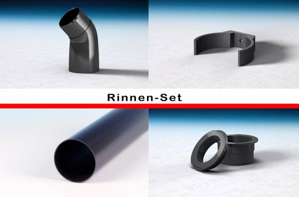 REXOdrop PVC-Rinnen-Set, anthrazit