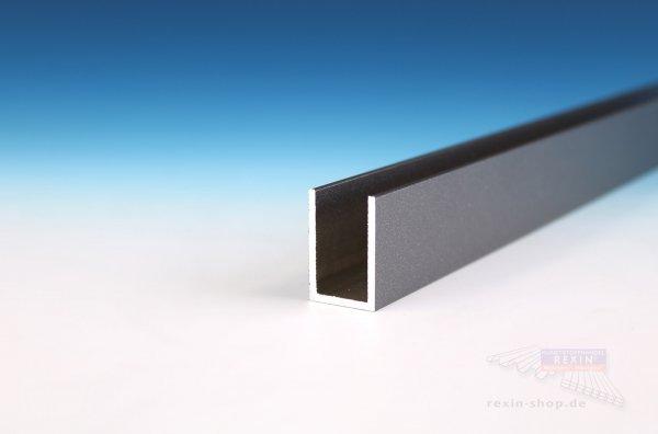 REXOcover Protect Alu-U-Profil, 30 x 20 x 30 x 2 mm, anthrazit