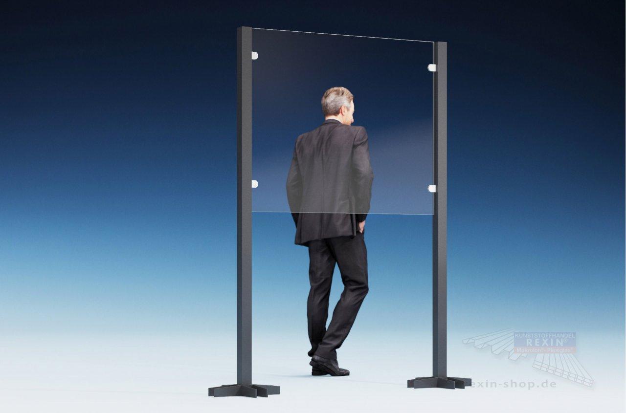 Rexin REXOcare Kunden-Trennwand halbhoch 1,30m x 2m Bausatz (Starter-Set)
