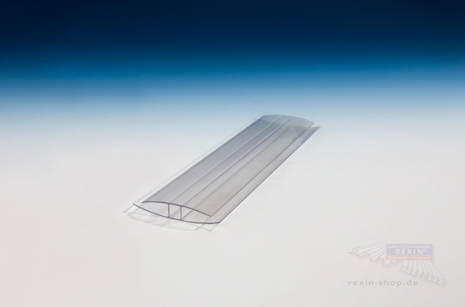 h profil aus polycarbonat transparent f r 10mm platten. Black Bedroom Furniture Sets. Home Design Ideas