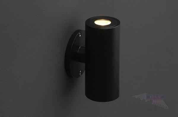REXOlight LED Up & Down Strahler, rund, schwarz