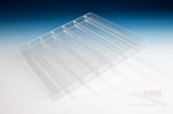 REXOclear 2-fach-Stegplatte Deluxe, 16mm, transparent