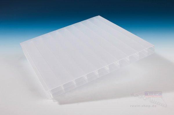 REXOclear 3-fach-Stegplatte, 16mm, opal-weiß