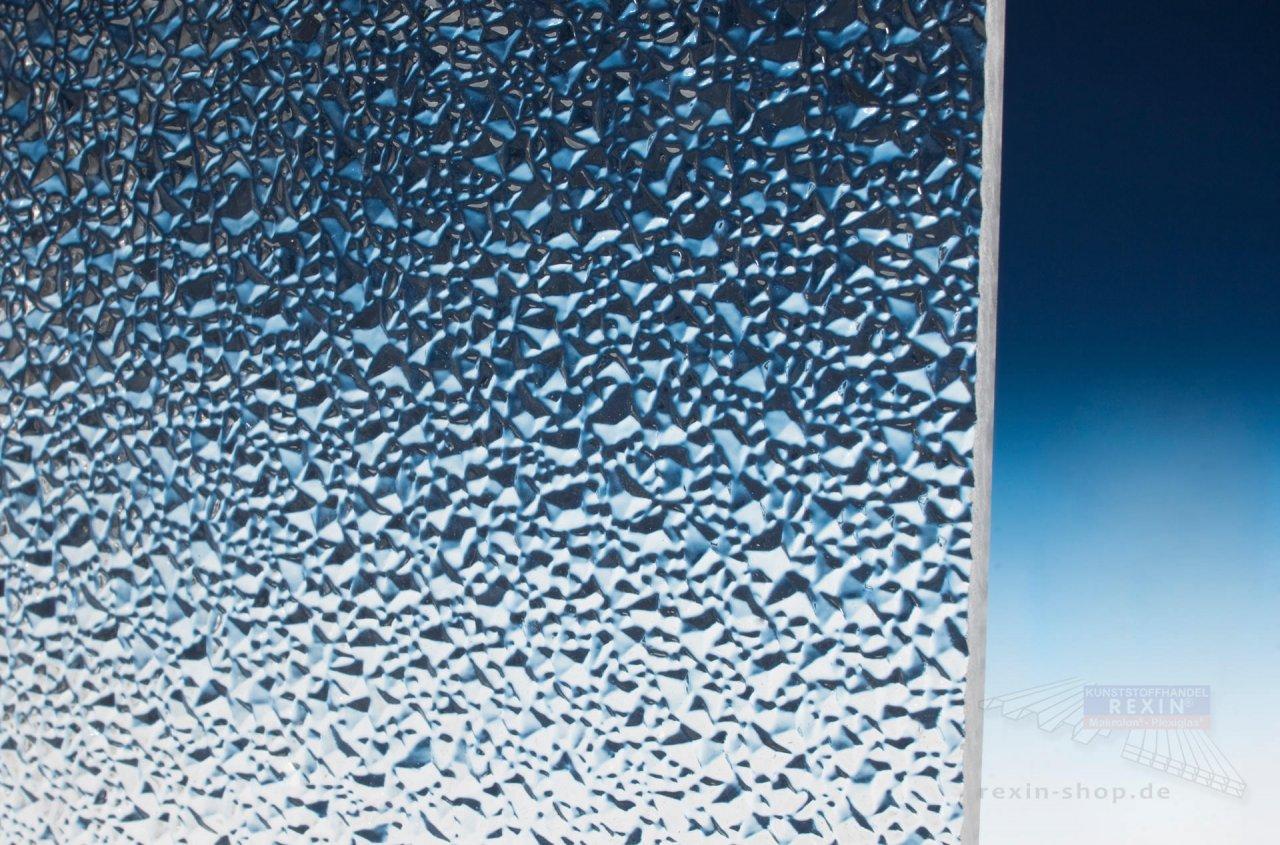Evonic Plexiglas Textures transparent, 6mm, Struktur: Eiskristall