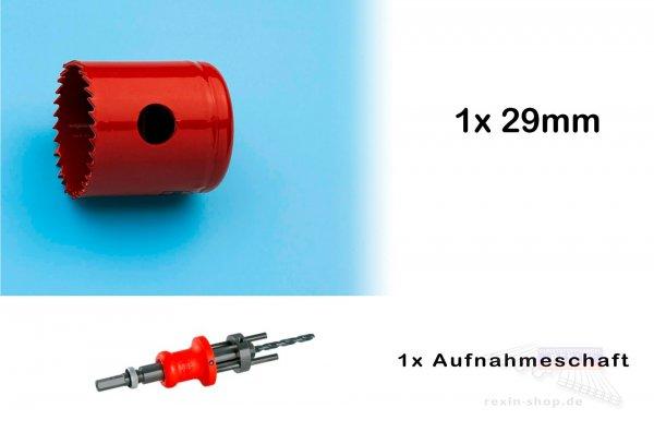 REXOlight Lochbohrer-Set für LED Aufbaustrahler, 29mm