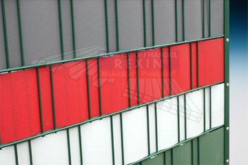 REXOcover Zaunverkleidung - hellgrau, für Doppelstab-Mattenzaun