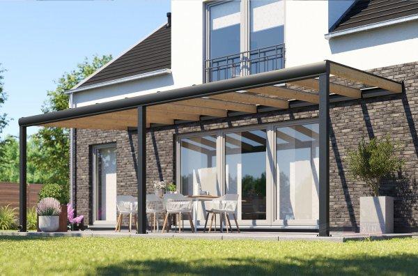 REXOdeluxe Alu Terrassenüberdachung 4m x 4m