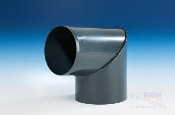 Kunststoff-Rohrbogen 87°, anthrazit