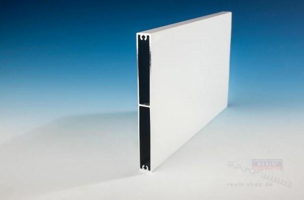 REXOboard Alu-Balkonbretter 150mm, weiß mit Seidenglanz