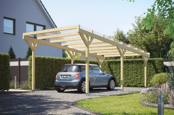 "REXOwood Holz-Carport ""Trapez"" 3,40 x 7,00m, freistehend"