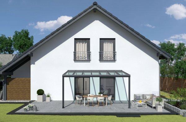 REXOpremium Alu Terrassendach 5m x 2m, VSG-Glas