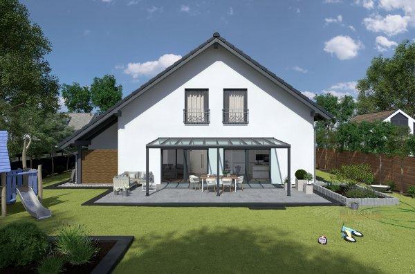 REXOpremium Alu Terrassendach 8m x 2,5m, VSG-Glas