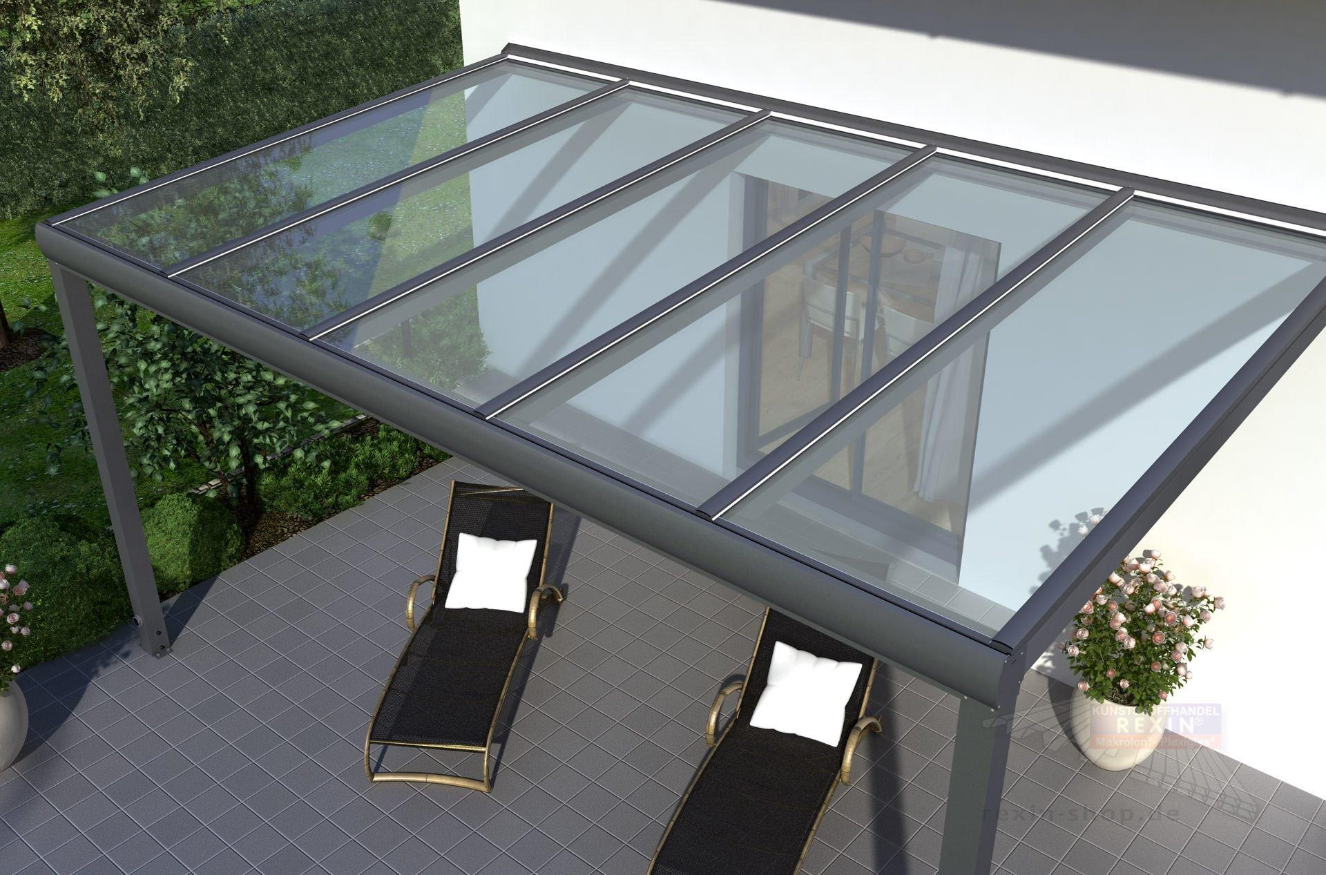 REXOpremium Alu Terrassendach 6m x 2m VSG Glas ▷ Rexin Shop