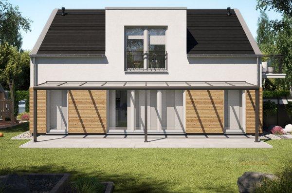 Alu-Terrassendach REXOpremium 10x2m