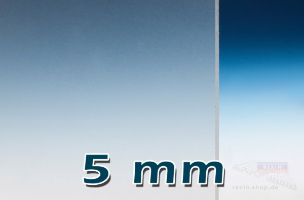 Plexiglas® GS Massivplatte, 5mm, klar satiniert