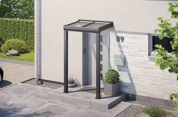 Alu-Haustürvordach REXOvita mit Massivplatten 1,5m x 1m