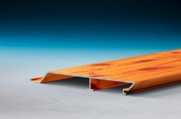 REXOpanel Alu Rhombus-Fassadenprofil 16mm, Holzdekor Fichte