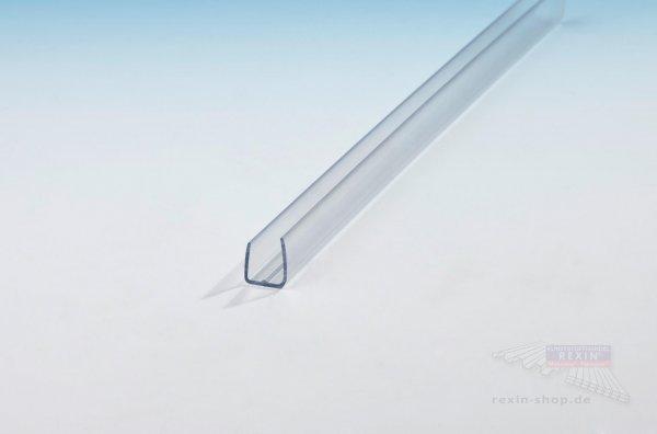 U-Profil aus Polycarbonat, transparent, für 6mm Platten