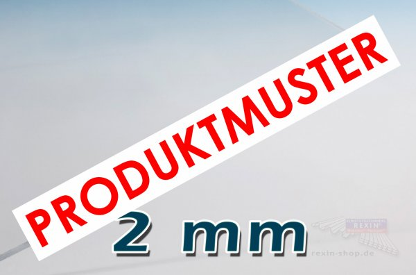 Makrolon® UV 2mm, Massivplatte, klar MUSTER