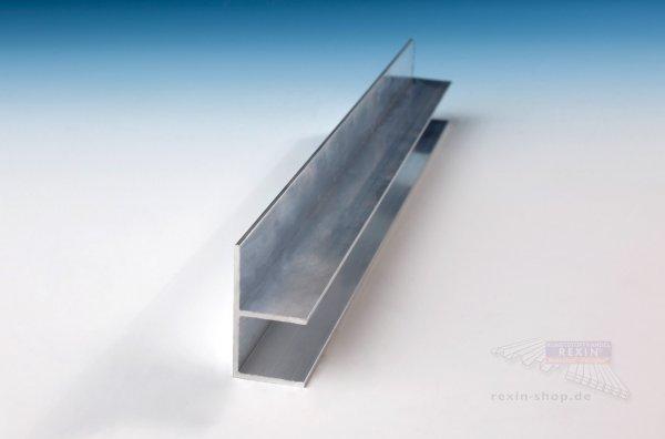 rexosystem alu f profil f r 16mm platten pressblank rexin shop. Black Bedroom Furniture Sets. Home Design Ideas