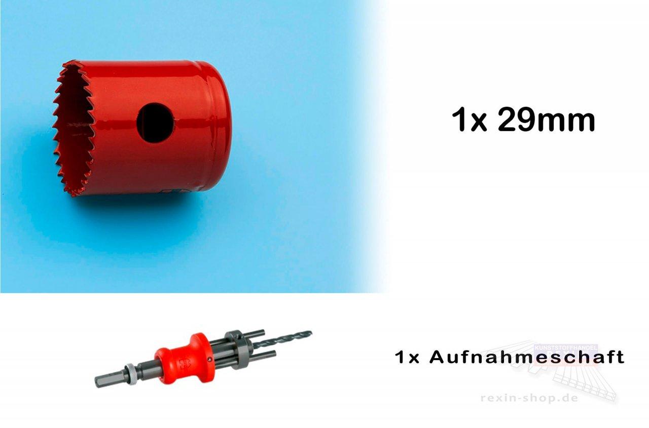 Rexin REXOlight Lochbohrer-Set fĂĽr LED Aufbaustrahler, 29mm