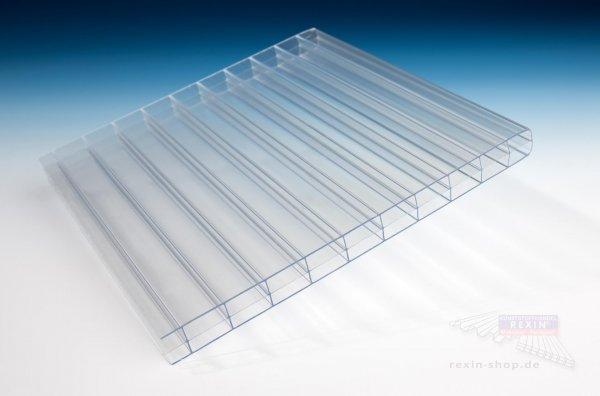 Polycarbonat 3-fach-Stegplatte, 16mm, transparent