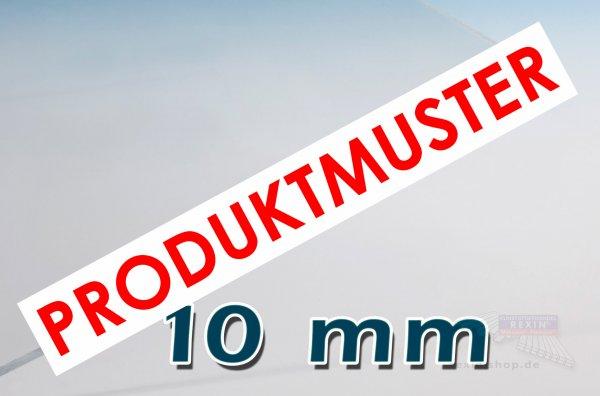 Makrolon® UV 10mm Massivplatte, klar MUSTER
