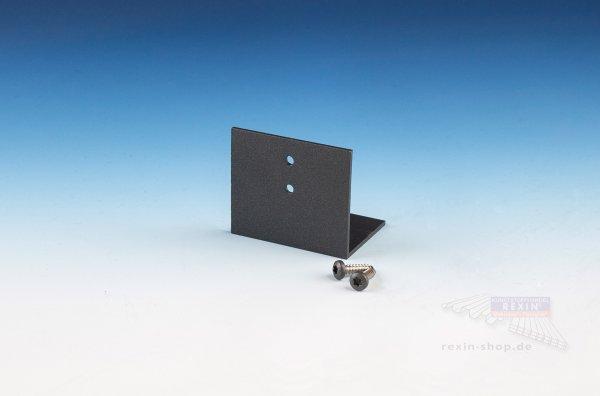 REXOpremium Alu-Befestigungswinkel für 16mm Platten, anthrazit