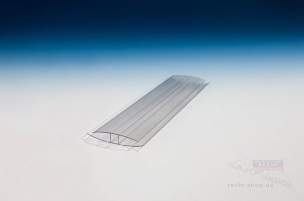 H-Profil aus Polycarbonat, transparent, für 10mm Platten